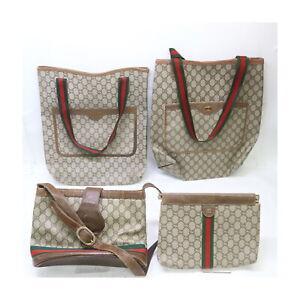 Gucci PVC Shoulder/Tote Bag Clutch  4 pieces set 525469