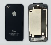 Apple iPhone 4 Glass Back Battery Cover - Colour: Black - Model A1332