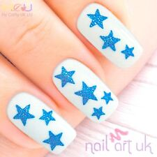 Blue Star Adhesive Nail Art Stickers