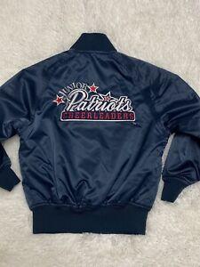 Girls New England Patriots Satin Bomber Jacket Sz S Junior Cheerleaders Nice!