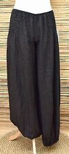 LAGENLOOK OVERSIZED 100% LINEN BALLOON LONG TROUSERS/PANTS***BLACK***L-XL-XXL