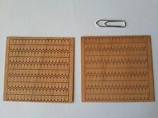 10 x Cerezo miniatura Tejas de madera en rayas 5,6 cm Accesorio Muñecas Casa