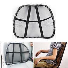 Cool Vent Mesh Cushion Back Lumbar Brace Support Car Office Chair Comfort Lower