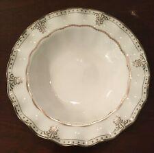 Royal Crown Derby - Elizabeth Platinum Rimmed Soup Bowl - New Old Stock