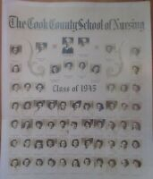 Vintage Photo Cook County School of Nursing class of 1945 11X14 Chicago IL