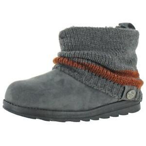 Muk Luks Patti Women's Cable Knit Cuff Winter Booties Gray 16626 Size 7
