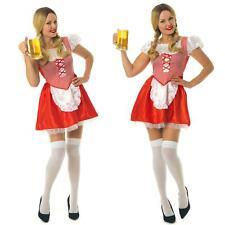 German Oktoberfest Beer Girl Costume Bavarian Women Fancy Dress Size S-XXL
