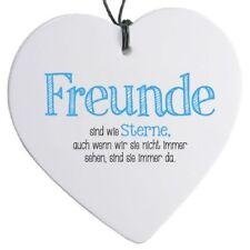 """Herz mit Spruch """"Freunde sind wie ..."""" - H 14 cm"""