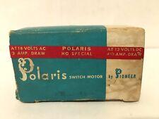 VINTAGE POLARIS SWITCH MOTOR ,PIONEER,HO SPECIAL 18 V. 2 AMP DRAW-12 V.4 1/4 AMP