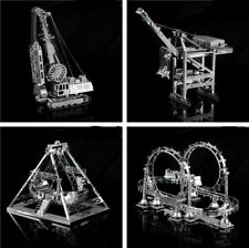 3D Metal assembly model Cable Car Roller coaster A pirate boat Amusement facilit