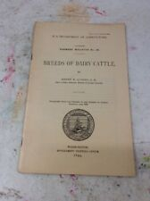 US DEPARTMENT OF AGRICULTURE FARMERS BULLETIN Breeds Of Dairy Cattle 1899