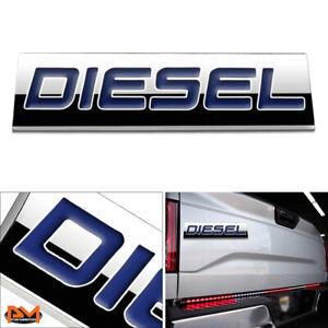 """""""DIESEL"""" Polished Metal 3D Decal Blue Emblem For Chevrolet/Mercedes/GMC/Ford"""
