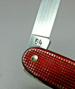 1964 Elsener / Victorinox 93mm model 1961 Red alox soldier Swiss Army Knife