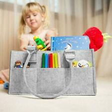 Portable Large Baby Diaper Caddy Basket Organizer for Changing Table and Car