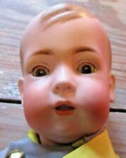 """Antique Bisque Doll 18"""" Bruno Schmidt Tommy Tucker Soldier Uniform"""
