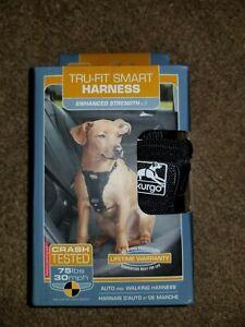 Kurgo TRU-FIT SMART Dog Harness Auto & Walking Crash Tested black Small NIB