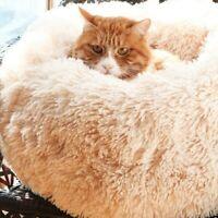 Panier Rond Peluche Pour Chat Petit Chien Doux Confortable Animal Compagnie