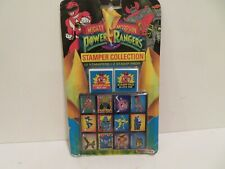 1993 Vintage Mighty Morphin POWER RANGERS 12 STAMPER COLLECTION *New*  NOTEWORTH