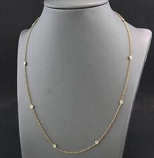 Diamant Collier 10 Brillanten 750-gold  Einzelfassung  Diamantkette