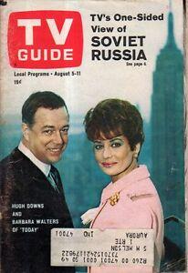 1967 TV Guide August 5 - Barbara Walters; Roger Moore-The Saint; Sigrid Valdis