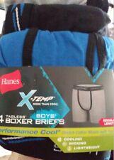 Hanes X-Temp Boy's 4-Pack Tagless Boxer Brief Underwear Size Small 6-8