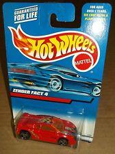 Hot Wheels 2000 Collector #208 Zender Fact 4 Red Orange Windows Flames SBs 25395