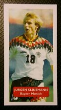 ALLEMAGNE-BAYERN MUNICH-Jurgen Klinsmann-Score UK Football Trade Card