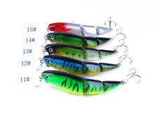 5X Fishing Lures Bass Baits Lifelike Jointed Minnow Crankbaits 6# Hook 10.5cm#