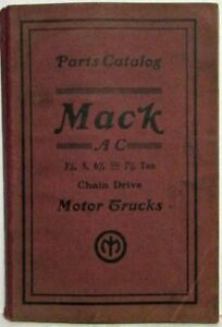 1924 Mack Truck AC Chain Drive Chassis Model Parts Book