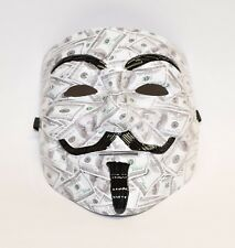 Custom HydroDipped Anonymous, V VENDETTA, Guy Fawkes Mask in $100 Bills