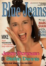 Blue Jeans Magazine 22 July 1989 No. 654    Mark Shaw    Bros    Jason Donovan
