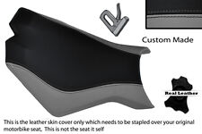BLACK & GREY CUSTOM FITS KTM SUPERDUKE 990 R 07-12 FRONT LEATHER SEAT COVER