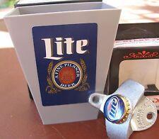 Miller Lite Beer Bottle Cap Opener / Playing Card & Cap Catcher  Bar Pub  NIB