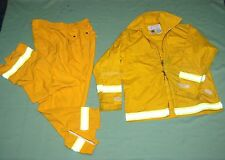 FIREFIGHTER Wildland/Brush fire JACKET & PANTS w/Reflector Stripes