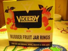one dozen red  regular size canning jar rubbers