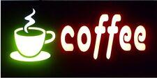 NEON MULTI DISPLAY FLASHING COFFEE SIGN BUSINESS SHOP CAFE RESTAURANT SHOPS UK