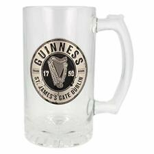 More details for guinness tankard glass with metal badge