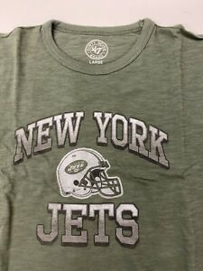 $34 NWT Kid's New York Jets 47 Brand Youth Tee T shirt NY NFL  Green MEDIUM M