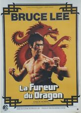 """LA FUREUR DU DRAGON (THE WAY OF THE DRAGON)"" Affiche orig. entoilée (Bruce LEE)"