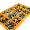 300 ASSORTED 6g 8g STAINLESS STEEL FLANGE POZI PAN SELF TAPPING TRIM SCREWS KIT