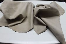 Italian Goatskin leather hides skin skins VINTAGE NATURAL GRAINY BEIGE 16sqf
