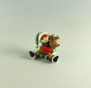 OOAK~Elf~Reindeer~Rudolph~Christmas~Baby Toy~Artist Doll~Dollhouse~Cheryl Brown