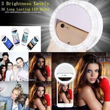 Clip on LED Selfie Flash Light Up Ring Luminous Case Cover For Samsung iPhone LG