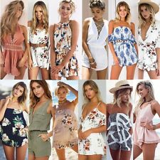 New Summer Women Bodycon Jumpsuit Playsuit Shorts Romper Beach Holiday Sun Dress
