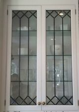 Heritage Lead glass Cabinet  & Kitchen  door inserts