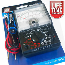 Analogue Multimeter Multitester AC DC Volts Ohm. Electrical Circuit Multi Tester