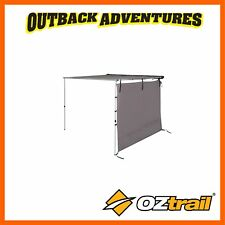 OZTRAIL TOURING RV SHADE AWNING SIDE WALL - GREY 2.1 x 1.9m