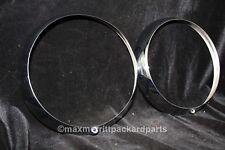 1935-37 Packard Junior Head Light Rims!! - PAIR - Perfect!!