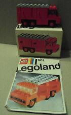 1970s Lego 602 Vintage Van with Opening Doors Boxed with instructions Complete a