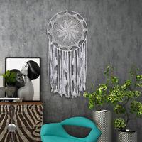 Eg _ Extra Large Dream & Attrapeur Enfants Tenture Murale Décor Main Blanc Plume